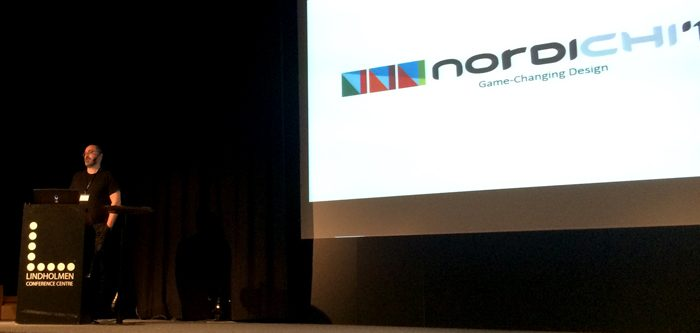 Staffan Björk opening the NordiCHI conference